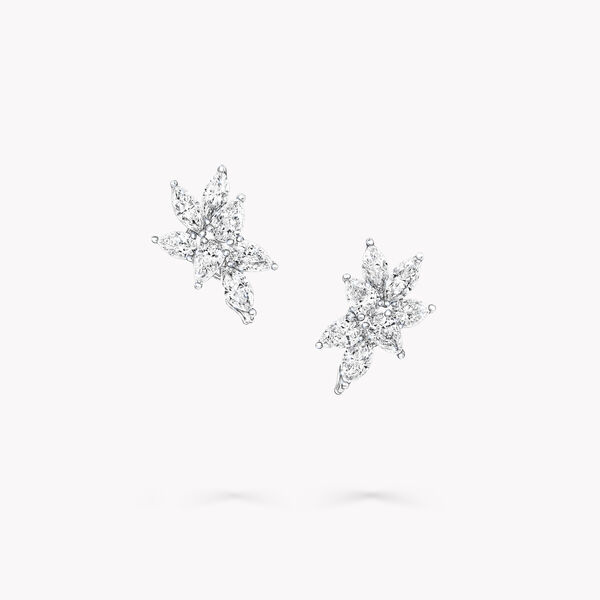 多形切割钻石小耳钉, , hi-res