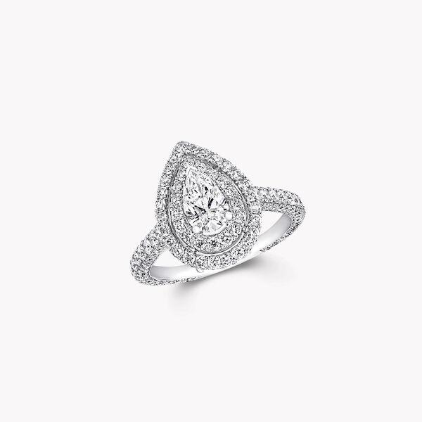 Twin Constellation梨形钻石订婚戒指, , hi-res