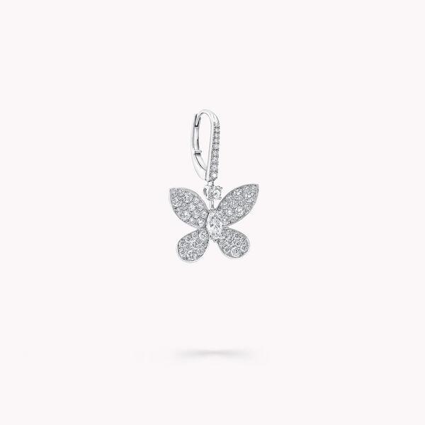 缱绻蝴蝶钻石长耳环, , hi-res