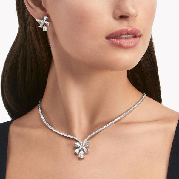 Tilda's Bow梯形钻石耳环, , hi-res