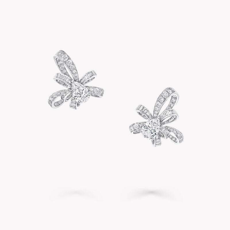 Tilda's Bow Pear Shape Diamond Stud Earrings, , hi-res