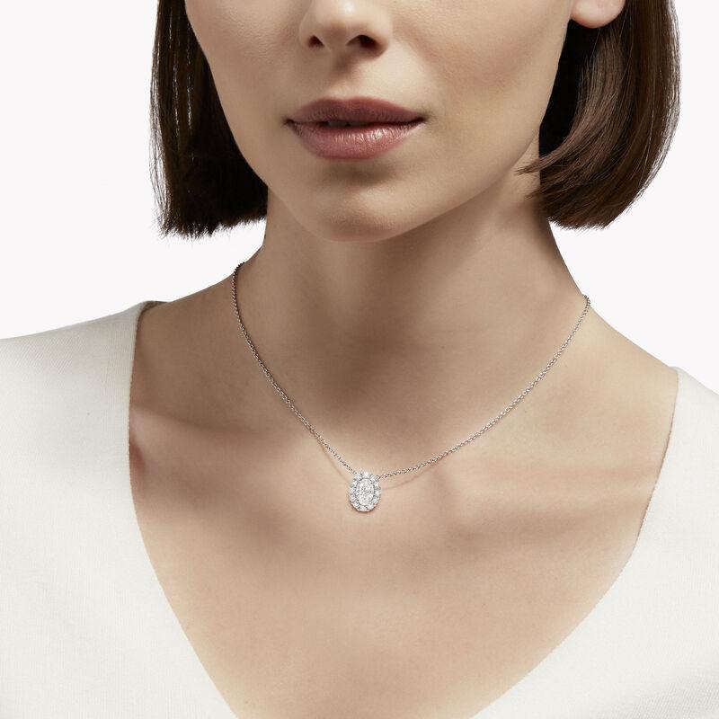 Icon Oval Diamond Pendant, , hi-res