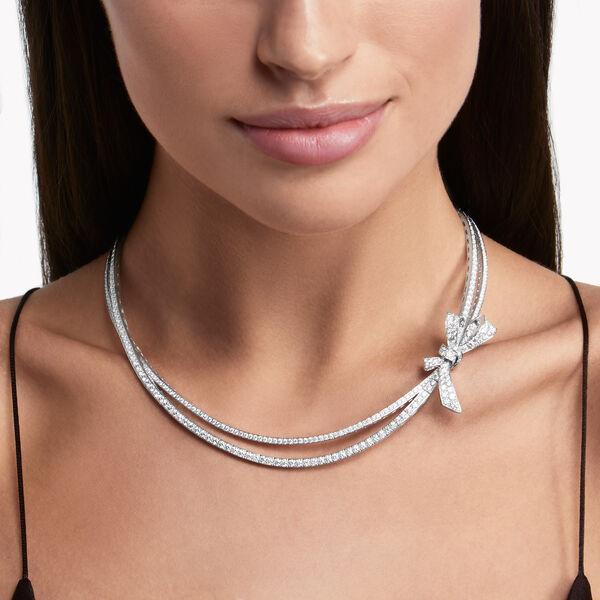 Tilda's Bow密镶钻石项链, , hi-res