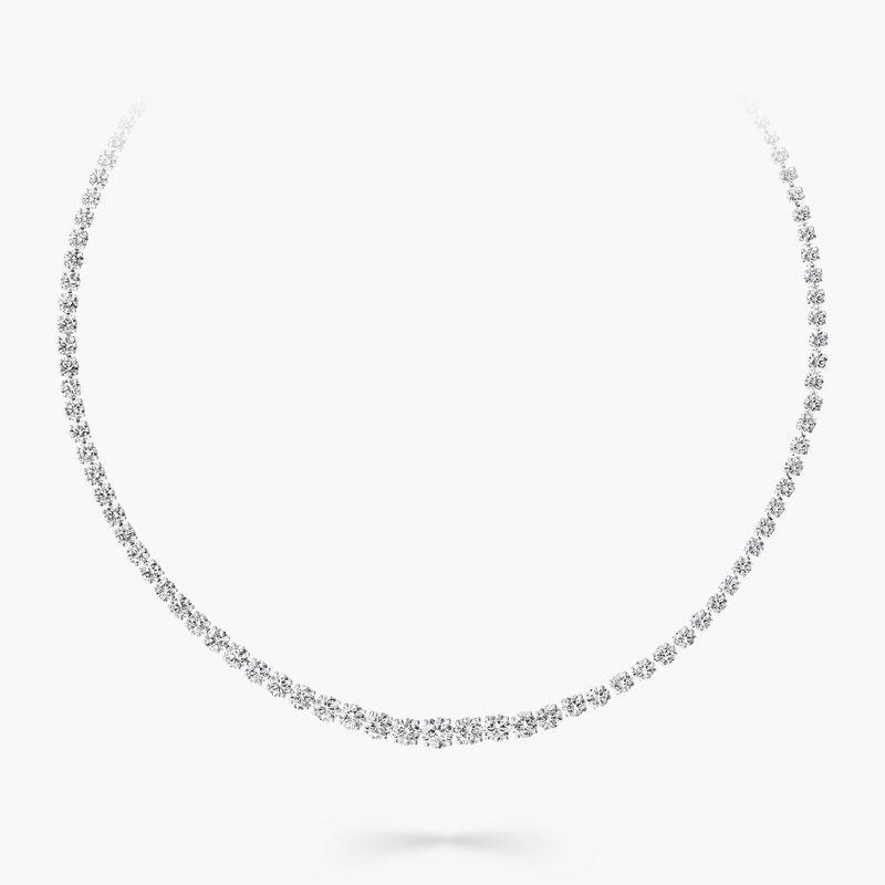 Round Diamond Necklace, , hi-res