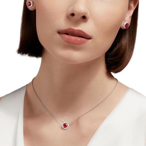 Icon Round Ruby and Diamond Pendant, , hi-res