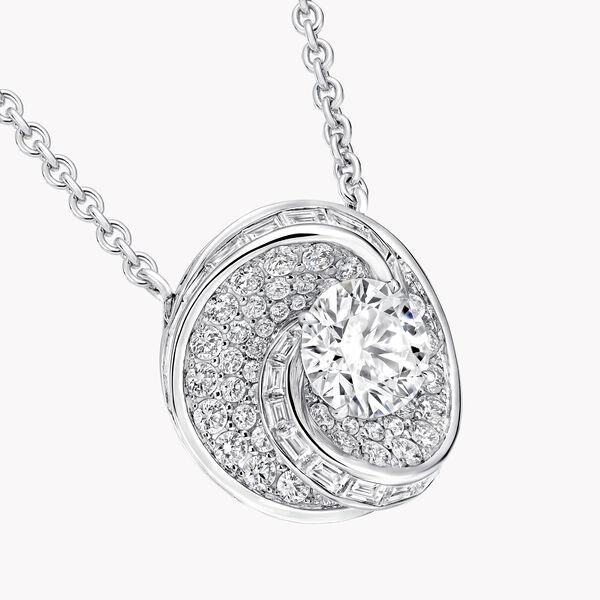 Swirl圆形钻石吊坠, , hi-res