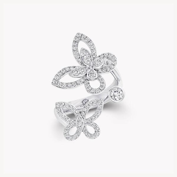 蝴蝶幻影多形切割钻石戒指, , hi-res