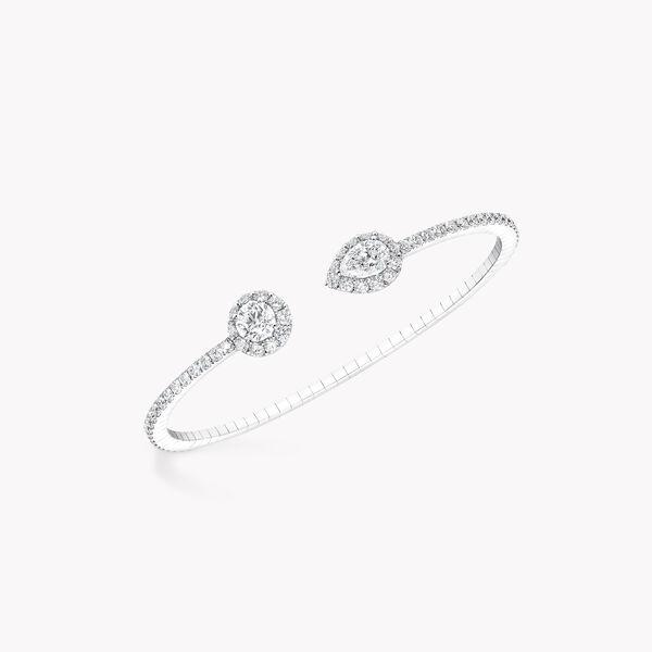 Icon圆形和梨形钻石手镯, , hi-res