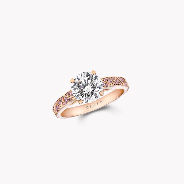 Laurence Graff Signature圆形钻石订婚戒指, , hi-res