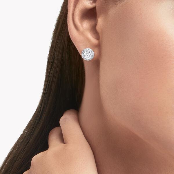 Icon圆形钻石耳钉, , hi-res