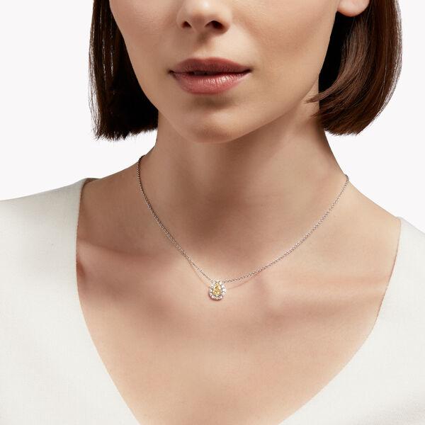 Icon梨形黄钻和白钻吊坠, , hi-res